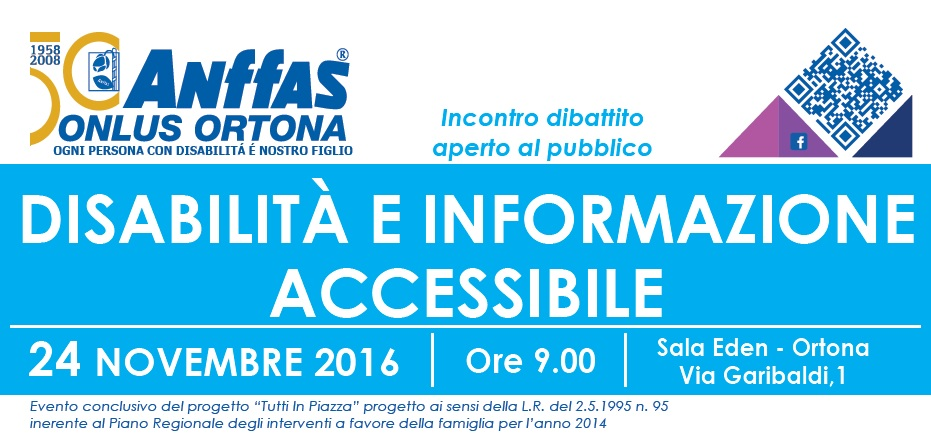 Anffas Ortona. Disabilità e informazione accessibile